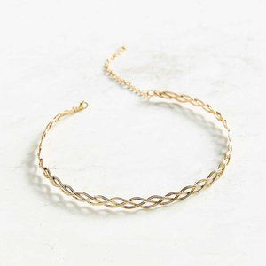 Urban Outfitters Wire Tattoo Choker Necklace Gold